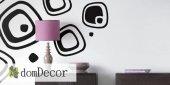 Jednofarebné nálepky na stenu